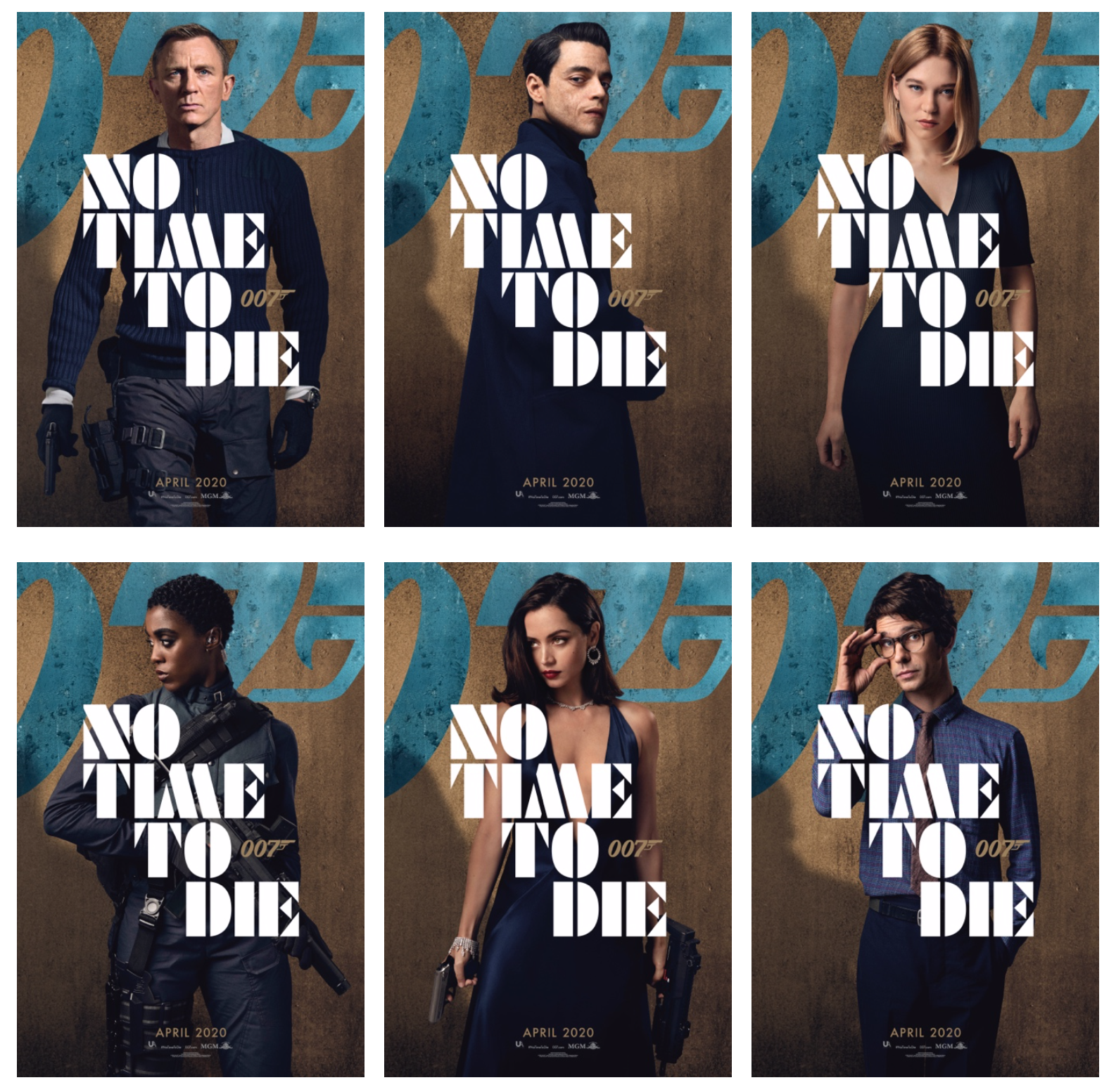 United Artists Releases No Time To Die Posters Highlighting